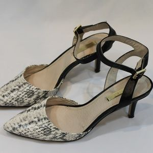 LOUISE ET CIE LEATHER HEELS SANDALS 6.5